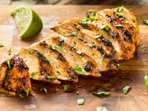 Cilantro lime marinade on grilled chicken