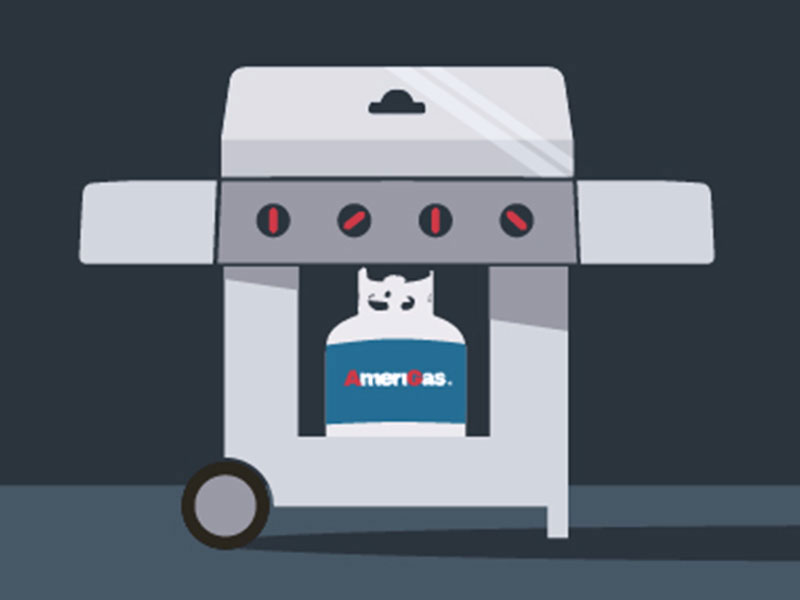 Propane grill illustration.