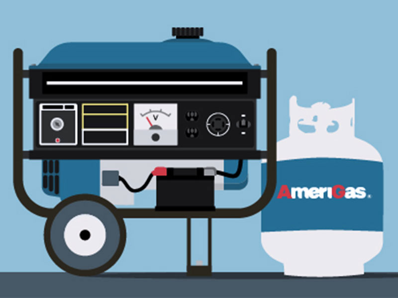 Propane generator illustration.