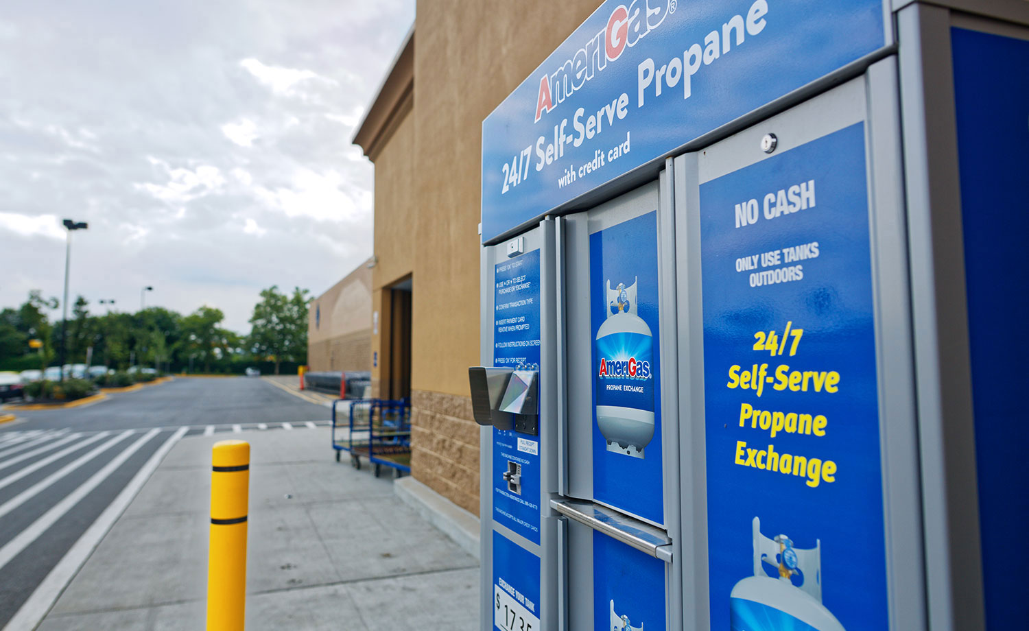 Self-Serve propane tank exchange.