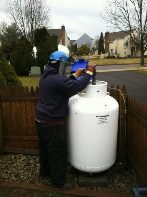 120 Gallon Vertical Propane Tank
